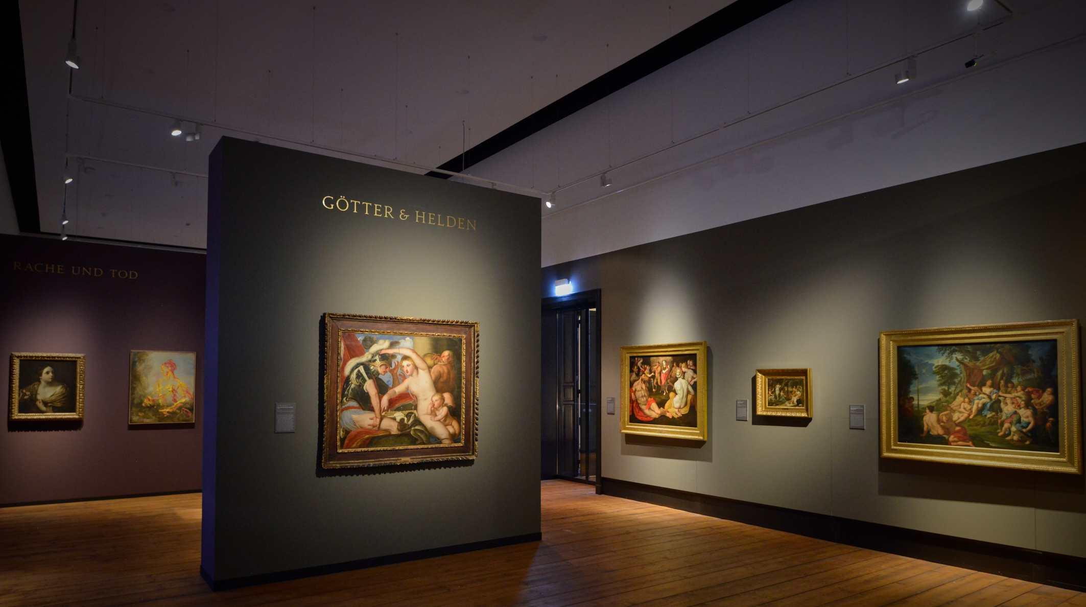 """Ausstellung """"Götter & Helden – Mythologische Malerei im Barock und heute Foto: Sven Adelaide"""