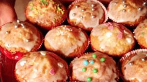 Einfache Muffins für Kinder-Geburtstag