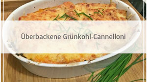 Überbackene Grünkohl-Cannelloni