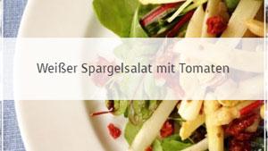 Weißer Spargelsalat mit Tomaten