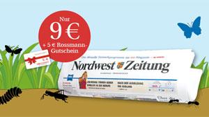 4 Wochen NWZ lesen für nur 9 € (inkl. 5 € Rossmann-Gutschein)