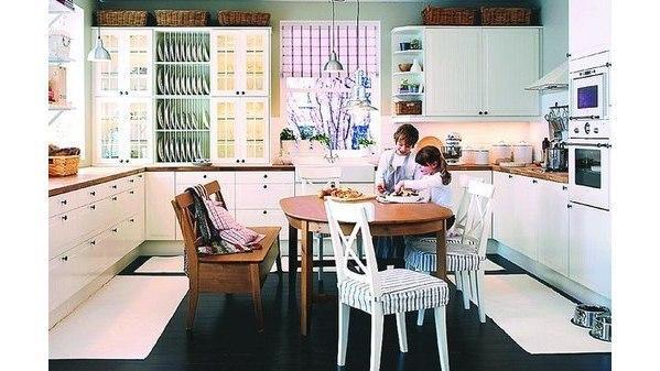 Platz schaffen für Geselligkeit Großen Essplatz in der Küche ...