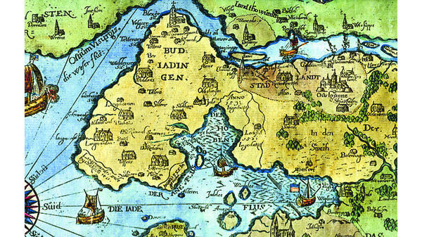 butjadingen karte Alte Karten: Butjadingen scheint auf die Nase gefallen zu sein