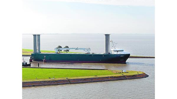 Enercons Spezialschiff E Ship 1 Vor Erster Transportfahrt