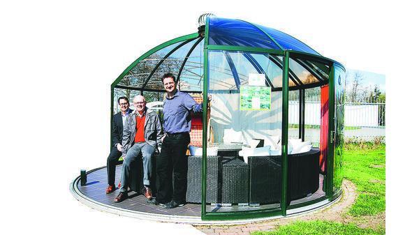 Runde Pavillons hoklartherm: berühmter pavillon geht in die serienfertigung
