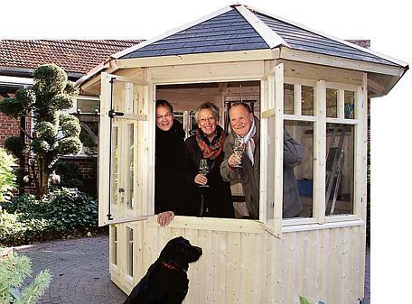 Klosterschänke Hude: Braker klopfen im neuen Pavillon auf Holz