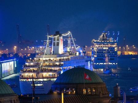 Cruise Days In Hamburg Sieben Kreuzfahrtschiffe Kommen