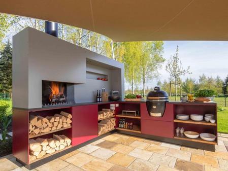 Outdoorküche Mit Spüle Blau : Kochen und spülen im garten: outdoorküche für den sommer