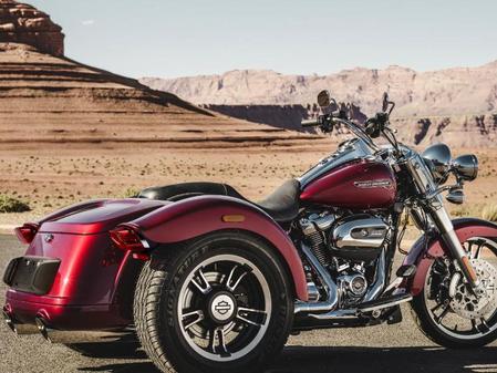 Pkw-Führerschein ausreichend: Potentes Dreirad: Harley