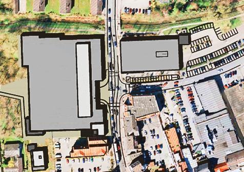 0193dbcc9173c3 Das Media-Markt-Gebäude (rechts) wurde verkleinert und von Soeste  weggerückt. Auf der anderen Seite der Soestenstraße soll Kaufland gebaut  werden.