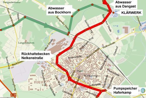 Dangast Karte.Abwasserbeseitigung Varel Langer Weg Durchs Kanalnetz Bis Zur