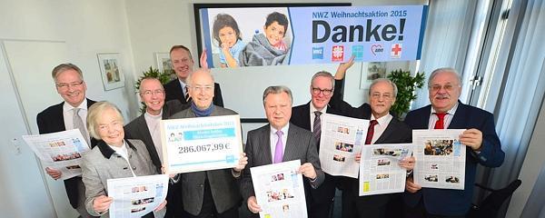 NWZ-Weihnachtsaktion: 286 067,99 Euro der Leser überreicht