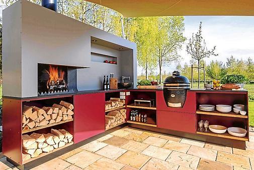 Möbel Für Außenküche : Außenküche brutzeln unter freiem himmel