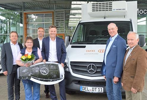 soziales delmenhorst: tafel erhält tiefkühl-transporter