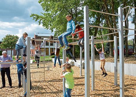 Klettergerüst Spielplatz : Spielplatz lastrup fitnessparcours soll zu