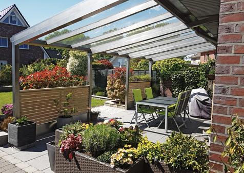 Edelstahl Eine Solide Terrassenuberdachung