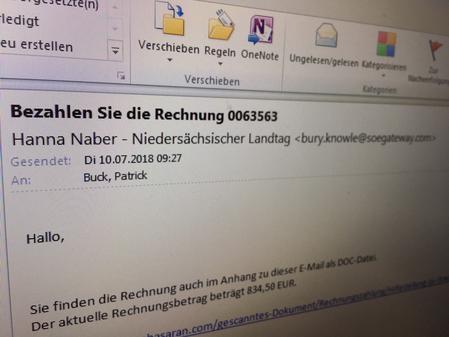 Warnung Vor Schadsoftware Oldenburg: Gefälschte Mails