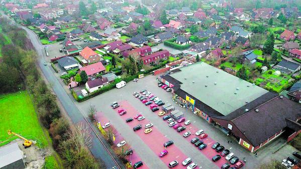 Blick Auf Das Wohngebiet Elsa Brandstrom Strasse In Heidmuhle Mit Den Verbrauchermarkten Von Edeka Und Aldi An Der Muhlenstrasse Will Sich Vergrossern