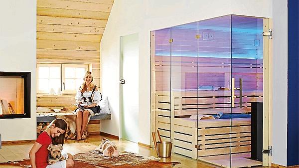die sauna nach ma passt in jede nische nwz guide. Black Bedroom Furniture Sets. Home Design Ideas