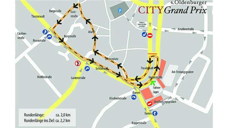 Fussgangerzone Oldenburg Karte.City Grand Prix Oldenburg Oldtimer Rattern Wieder Durch Die