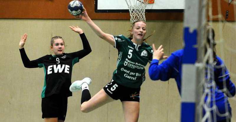 Handball: Junge Garrelerinnen mühen sich zum nächsten Erfolg - Nordwest-Zeitung