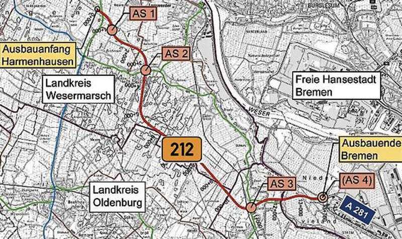 Arbeitskreis Ermittelt Effekte Der B 212 Neu: Neue Bundesstraße wird jetzt detailliert geplant - Nordwest-Zeitung